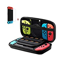 Nintendo Switch Case-Carrying Case and Tempered Glass Screen Protector for Nintendo Switch
