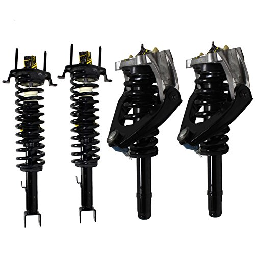 (Detroit Axle - 4pc Front Struts w/Coil Spring & Upper Control Arms & Rear Strut & Coil Spring Kit for 2001 2002 2003 2004 2005 2006 Chrysler Sebring Convertible Models Only)