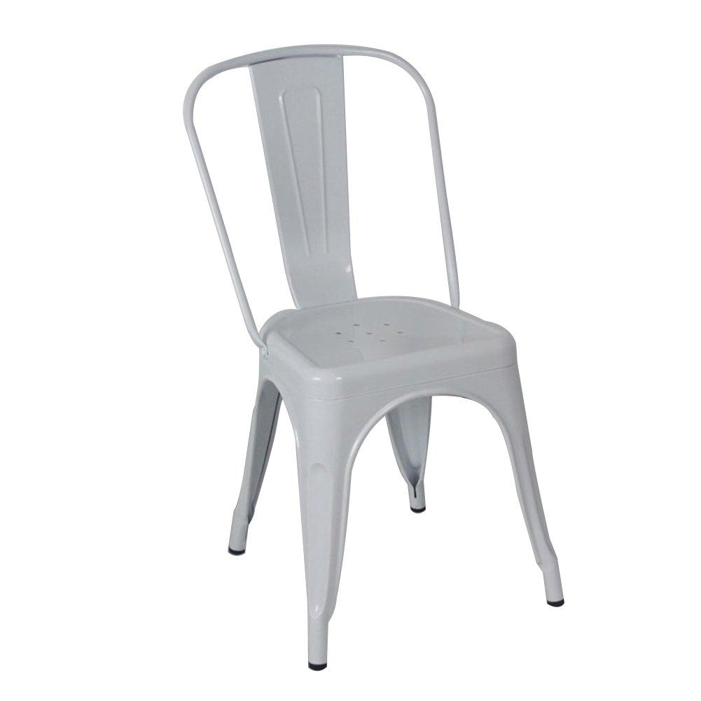 ダイニングチェア チェア Chair ッション アイアンアートバックレストコーヒーレストランVintage Industrial wind Drawing(単価4、販売から) TINGTING (色 : 白) B07F6YV5FJ 白 白