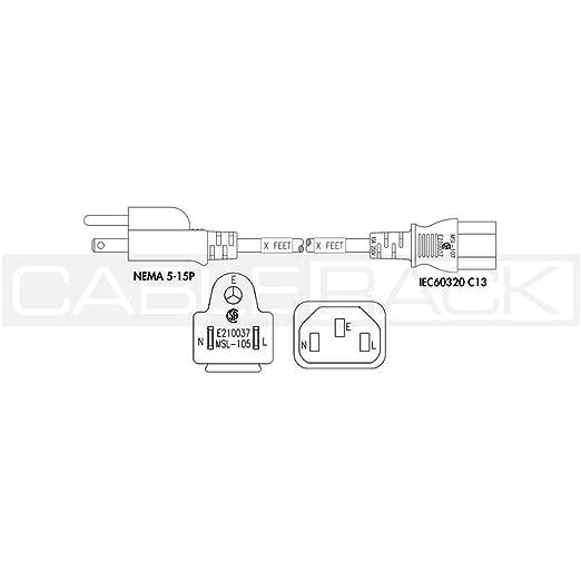 cablerack 2ft nema 5 15p male plug to iec60320 c13 female connector L5- 30P L6-30P cablerack 2ft nema 5 15p male plug to iec60320 c13 female connector 18 3 10 125v svt power cord white amazon