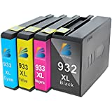 Bosumon Replacement For HP 932 933 Compatible Ink Cartridge ( Shows Accurate Ink Level ) Compatible With HP Officejet 6600 6100 6700 7110 7610