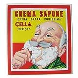 CELLA Shaving cream Soap - XL GIANT Size - One Kilo Box 1000GR - almond shave creme - Fills cella container 12 times !!