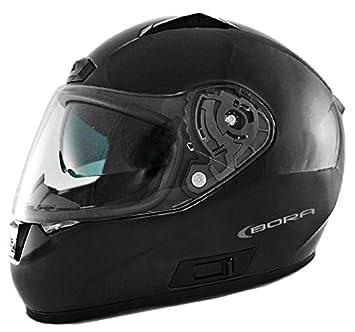 Casco Integral Moto LEM - Bora- NEGRO BRILLO (M)