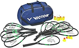 Victor Speed-Badminton Schulset mit Tasche für 12 Spieler Badmintonset für Sport
