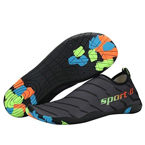 Schuhe Männer Schwimmen Surfen Caumouflage Aqua Schuhe schwarzgrau Strand für Yoga Wingbind Schuhe Frauen Wasser Schuhe Sport Tauchen UfYpqA