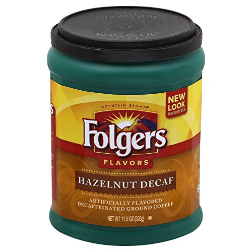 Folgers Decaf Hazelnut Flavored Ground Coffee, 11.5 Ounce