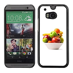 Soft Silicone Rubber Case Hard Cover Protective Accessory Compatible with HTC ONE M8 2014 - Bowl of fruit