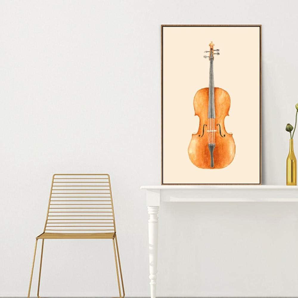 XLXZZ Cuadro en Lienzo Cello Wall Art Imagen Impresa para Sala de Estar Decoración para el hogar-50x70cmx1 Piezas sin Marco