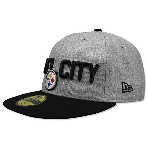 New Era Pittsburgh Steelers 2018 NFL Draft Official On-Stage 59FIFTY Fitted Hat - Heather Grey (7 - Steelers Pittsburgh Heather