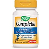 Nature's Way Completia Diabetic Multivitamins (Iron-free) Tablets, 30-Count