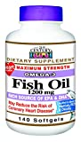 21st Century Fish Oil 1200 mg Softgels, 140 Count
