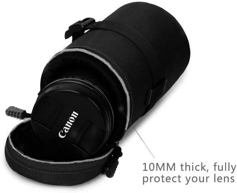 HomyWord Thick Water-Resistant Protective Durable Nylon Lens Bag Case//Lens Pouch//Lens Bag With Shoulder Strap for DSLR Camera Lens For Canon 70-200//2.8IS L
