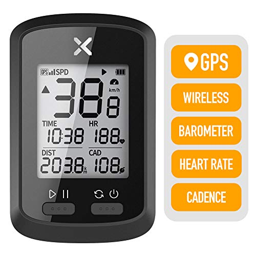 XOSS Bike GPS Computer G+ Wireless Speedometer Odometer Cycling Tracker Waterproof Road Bike MTB Bicycle Bluetooth ANT+ with Cadence Cycling Computers (1 x G+ Computer)