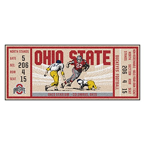 FANMATS NCAA Ohio State Buckeyes Universityticket Runner, Team Color, One -