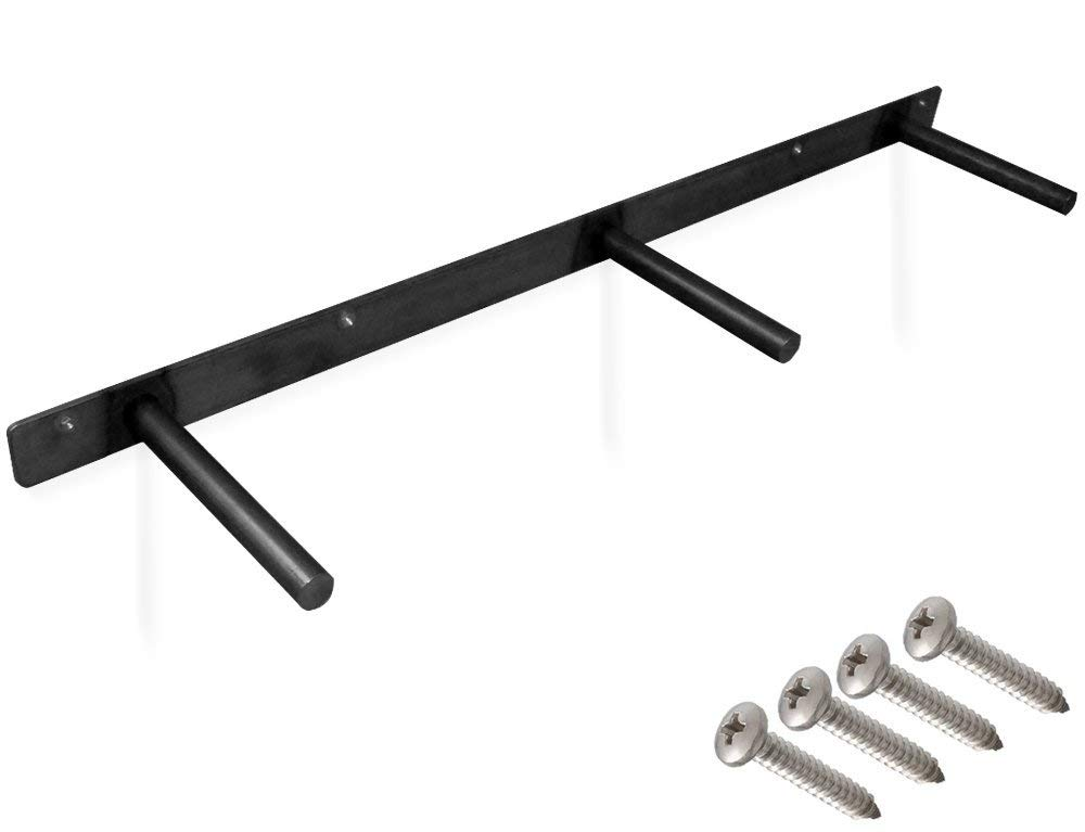 32-inch Heavy-Duty Floating Shelf Bracket Rustproof Solid Steel with Black Powder Coating. 6'' Deep Long Rods. Fully Concealable, Invisible, Hidden,Sturdy DIY Hardware. Flush Fit, Screws Included 32''