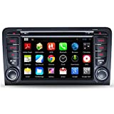 NewerStone Quad Core Android 5.1.1 Car Stereo for Audi A3 S3 2002-2011 support GPS/DVD/AM FM Radio/Steering Wheel Control/Bluetooth/Wifi/3G/AV-IN/Map Card/16 Gb Memory