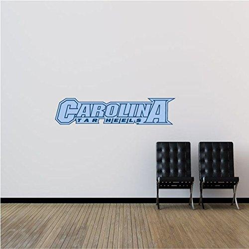 North Carolina Tar Heels NCAA USA Slogan Logo College Sport Set of 2 Art Wall Decor Sticker 25'' x 6''