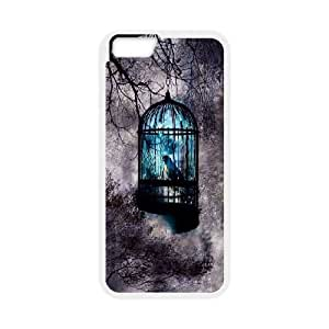 Blue Art iPhone 6 Plus 5.5 Inch Cell Phone Case White