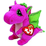 Beani Ty - Ty Beanie Boos 10 Quot 25cm Darla The Dragon Plush Medium Big Eyed Stuffed Animal Collection Soft - Dragons Ultimate Scrappy Tiger Octopus 2019 Turtles Puppy Guide Plush Lion Darla Jum
