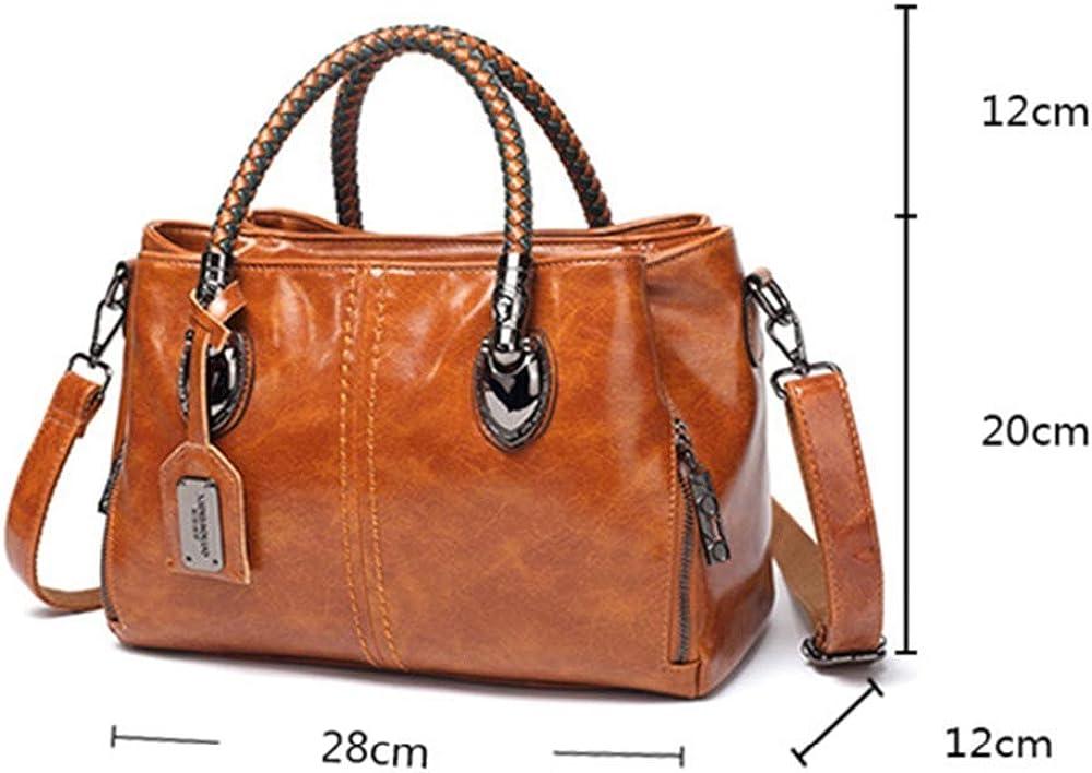 KISlink Frauen 's Top-Griff Taschen Leder Womens Messenger Bags Damen Handtaschen Designer Schulter Tote Bag für Frauen Black