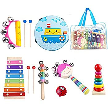 Musical Instruments Pack Of 4 Fun Musical Educational Toy Set Sand Egg Shakers Rain Maker Trumpet Castanet For Children Kids Moderate Price