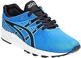 ASICS Gel Kayano Trainer EVO Retro Running Shoe, Blue/Black, 7.5 M US