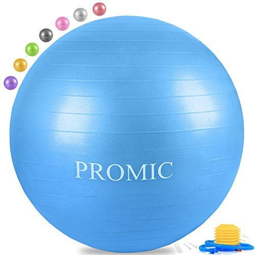 PROMIC Professional Grade Static Strength Exercise Stability Balance Ball with Foot (Burst Resistant Feet Ball)