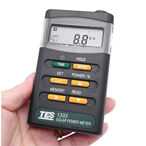Signstek Handheld Portable Solar Power Irradiance Meter-Solar Power Radiation Meter-Sun Irradiance Tester (Clore Battery Tester)