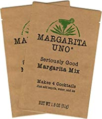 """Want an easy-to-make, easy-to-drink margarita mix? If so, Margarita Uno® """"Seriously Good"""" Margarita Mix is an excellent choice!  Our powdered margarita mix combines the taste of a premium fresh liquid mix with the convenience of a dry powder...."""