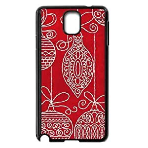Red Christmas Ornaments Samsung Galaxy Note 3 Cell Phone Case Black Exquisite gift (SA_481178)