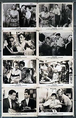 Jeux De L'amour, Les (1960) Original Gelatin Silver Prints (12) 8x10 photographs JEAN-PIERRE CASSEL GENEVIEVE CLUNY JEAN-LOUIS MAURY ROBERT VATTIER Film directed by PHILLIPE de BROCA Theater Used Minor Wear
