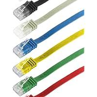 CAT6 Yassı RJ45 Ethernet (Network, İnternet) Kablosu (15 Metre, Yeşil)
