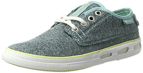 Columbia Vulc N Vent Lace Outdoor Heathered, Zapatillas de Deporte Exterior para Mujer Turquesa (Iceberg, Spring Yellow 341)