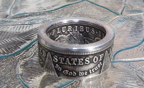 (Morgan Dollar Coin Ring 90% Silver, Commemorative)