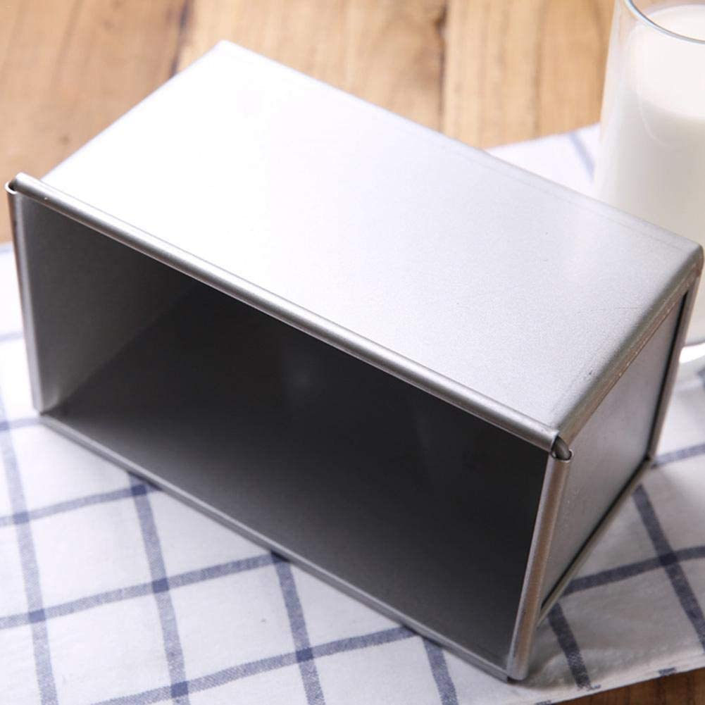 Bread 450g Bread Toast Mold- Loaf Pan Non-Stick Durable Bread Cake Bakeware Pan with Cover Aluminum Alloy Material Can Be Used for Baking Bread Cakes Etc