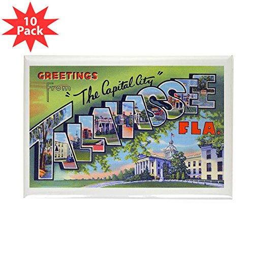 CafePress - Tallahassee Florida Greetings Rectangle Magnet (10 - Rectangle Magnet, 2