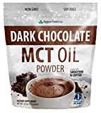 Dark Chocolate MCT Oil Powder – Sugar Free Hot Chocolate Mix – Perfect Low Carb Keto, Ketogenic Cocoa Supplement for Energy & Mood Support – Mix in Coffee, Tea, Drinks, Smoothies, Recipes – 6 oz For Sale