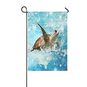 """Bandera de Jardín, resistente a la intemperie de tortugas de mar 100% poliéster bandera de Jardín 12""""X 18"""""""
