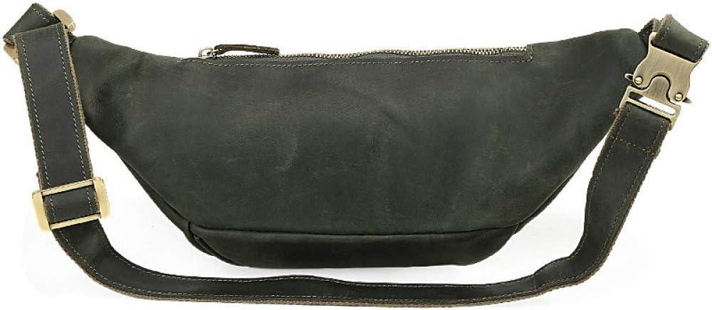 Color : Green, Size : 37x14cm NUGJHJT Mens Vintage Leather Business Briefcase 13 Laptop Bag Crazy Horse Leisure Bag