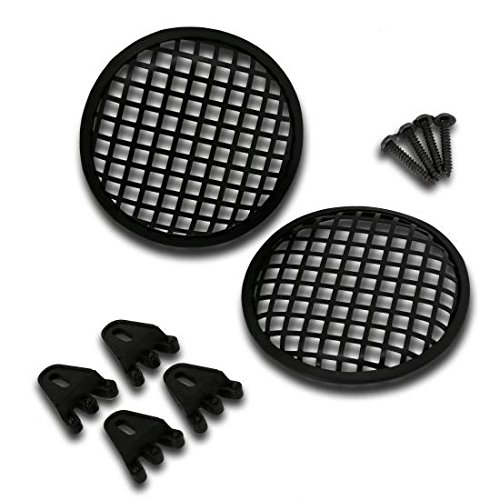 Pyramid GW5BK 5'' Speaker Grill Covers - Universal Car/Vehicle Speaker Protectors (Pair) by Pyramid
