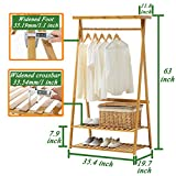 COPREE Bamboo Garment Coat Clothes Hanging Heavy