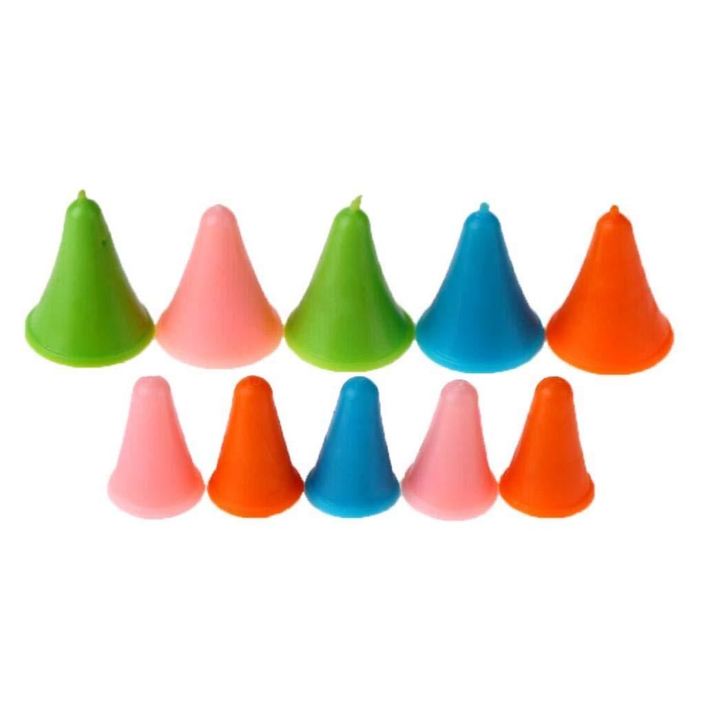 10Pcs 2sizes Ferri Tappi in Gomma Cono Forma Needle Point Protezioni Antiscivolo cap Cucire Strumenti e Accessori