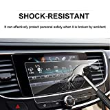 LFOTPP 2017-2018 Buick LaCrosse 8-Inch TRAPEZOID Tempered Glass Car Navigation Screen Protector, [9H] Infotainment Screen Center Touchscreen Protector Anti Scratch High Clarity