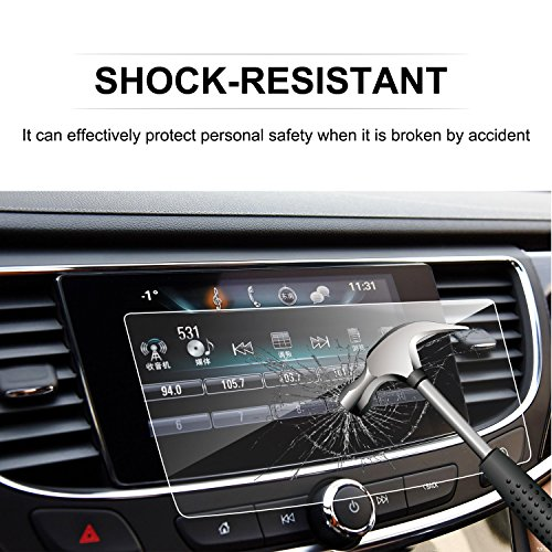 LFOTPP 2017-2018 Buick LaCrosse 8-Inch TRAPEZOID Tempered Glass Car Navigation Screen Protector, [9H] Infotainment Screen Center Touchscreen Protector Anti Scratch High Clarity (Touch Screen Buick)