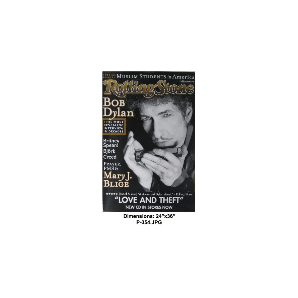 BOB DYLAN Rolling Stone Magazine Cover 24x36 Poster