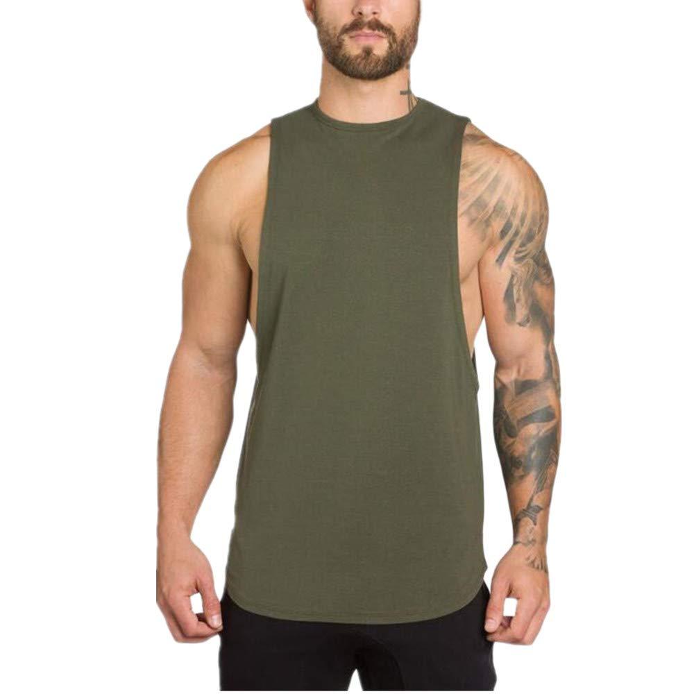 Permen Undershirt for Men Gyms Bodybuilding Fitness Muscle Sleeveless Singlet Tank Tops Vest