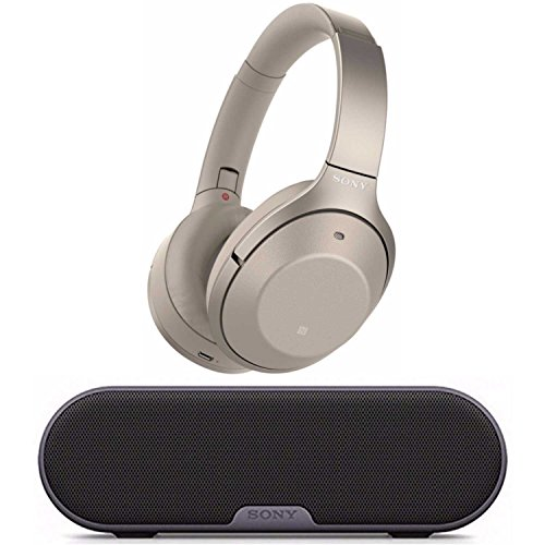 Sony Noise Cancelling Headphones WH1000XM2: Over Ear Wireless Bluetooth Headphones with Case - w/ and Sony SRS-XB2 Portable Wireless Speaker with Bluetooth and NFC (Gold) by Sony (Image #5)