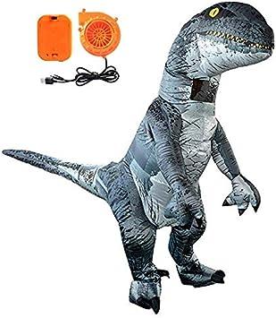 Tacobear Inflables Dinosaurio Disfraz Velociraptor Hinchable ...