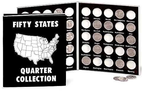 Commemorative State Quarters Black White Album - State Quarter Collection