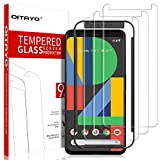 [3 Pack] QITAYO Screen Protector for Google Pixel 4, [Tempered Glass] [Scratch Resistant] [Alignment Frame Easy Installation] Google Pixel 4 Screen Protector with Lifetime Replacement Warranty